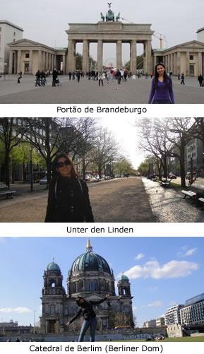 alemanha catedral de Berlim principal avenida e portão de brandeburgo