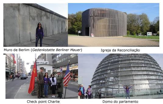 check ponint Charlie parlamento de Berlim igreja da reconciliação e muro de Berlim