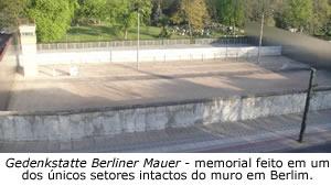 Gedenkstatte Berliner Mauer - memorial feito em um dos únicos setores intactos do muro em Berlim