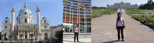 jardins do Belvedere, Kalrskirche e ONU