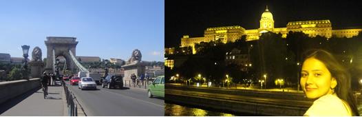 ponte das correntes e Castelo de Budapeste Buda