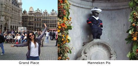 grand place e Manneken Pis