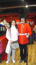 Eu e police man em Londres
