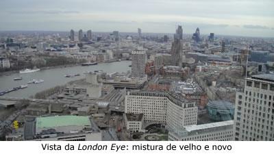 Vista da London Eye sobre Londres
