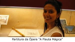 Casa Natal de Mozart - partitura de A Flauta Mágica
