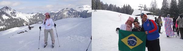 esquiando na suíça